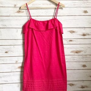 Ann Taylor Loft Linen Blend Pink Dress Size 2
